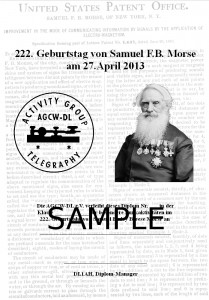 AGCW Special Award: 222th Birthday of Samuel F.B. Morse