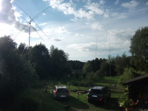 14 - 28 MHz incl. WARC Quad, 40 M Delta-Loop, 27m Vertical 80M