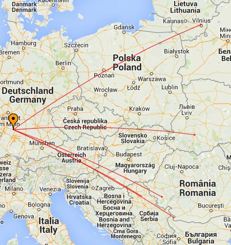 Geminiden 2014: Gearbeitete Stationen in FSK441